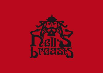 Logotipo y Music Artwork Hell's Breasts